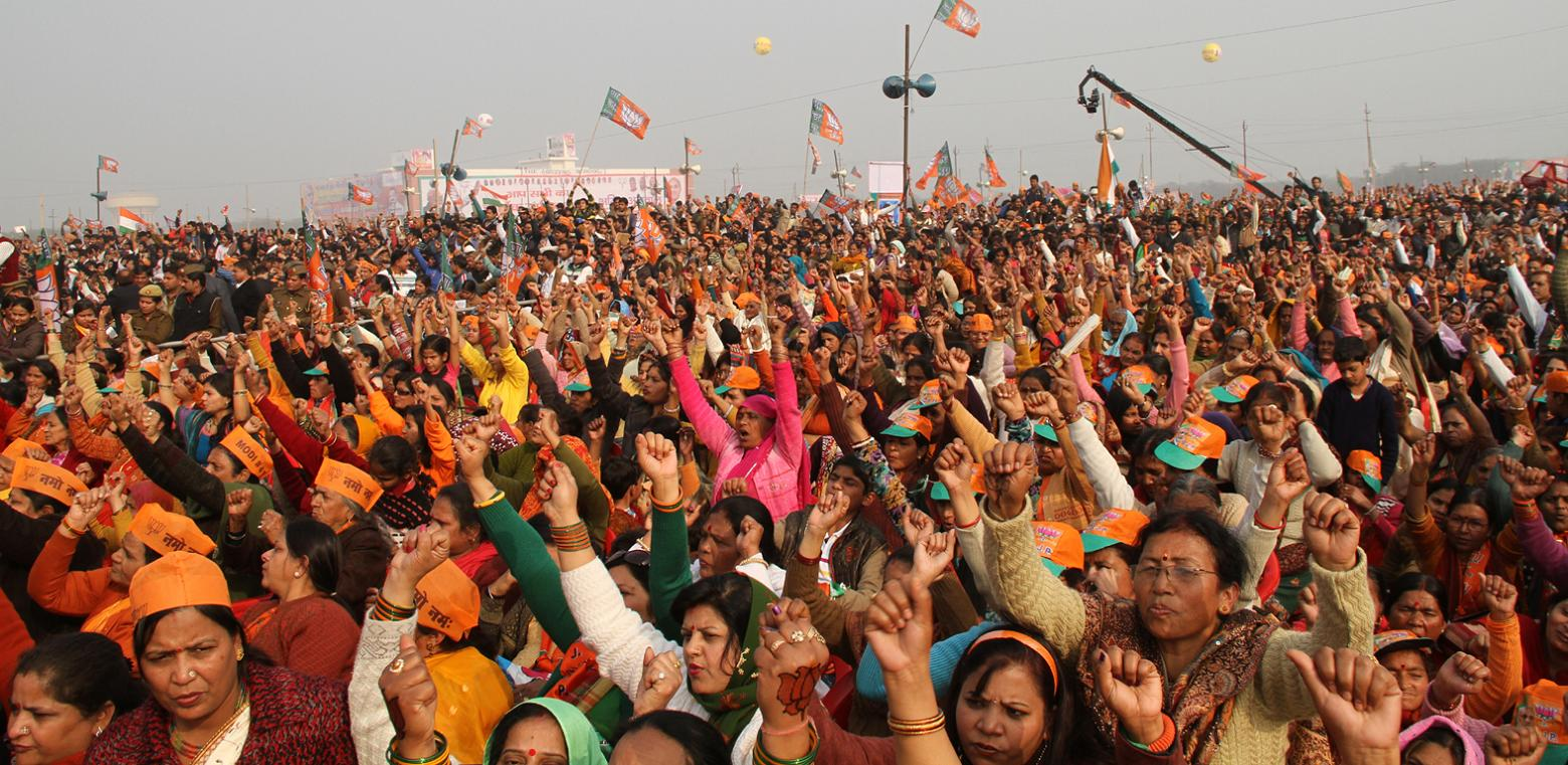 मोदी की मेरठ रैली के रंग