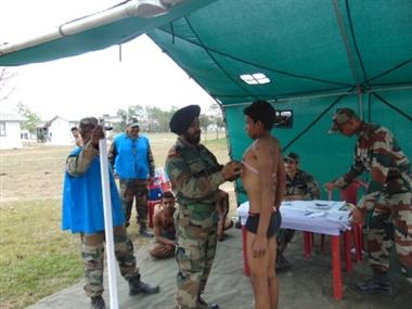 सेना भर्ती में पहले दिन 3550 अभ्यर्थियों ने लगाई दौड़