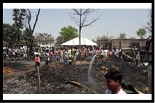अग्निकांड में नौ घर जले, लाखों का नुकसान