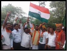 रजौली में भाजपा का तिरंगा यात्रा आयोजित