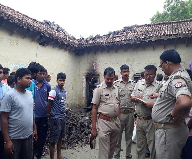 जौनपुर में कच्चे मकान में लगी आग, तीन मासूमों संग जिंदा जली मां