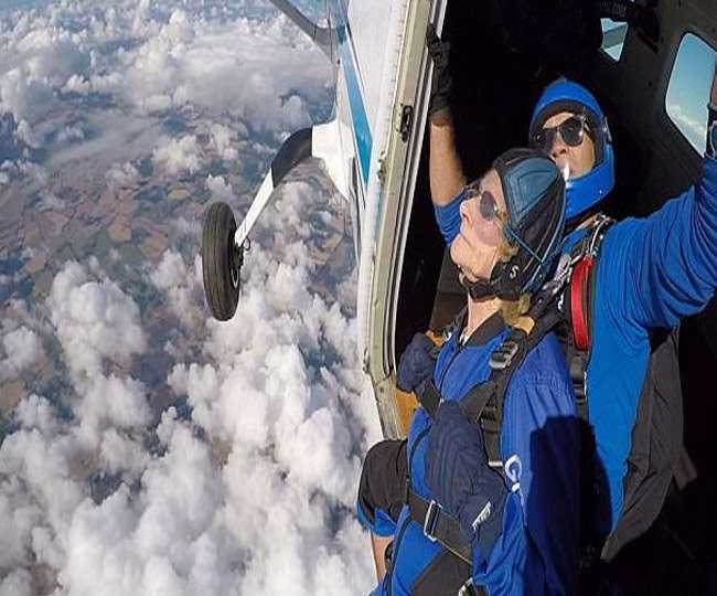 90 साल की उम्र में 13 हजार फीट ऊंचाई से स्काय डाइविंग कर पूरी की अपनी ख्वाइश