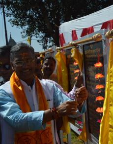 pics: चमोली में सीएम त्रिवेंद्र सिंह रावत ने करोड़ों की योजनाओं का किया शिलान्यास