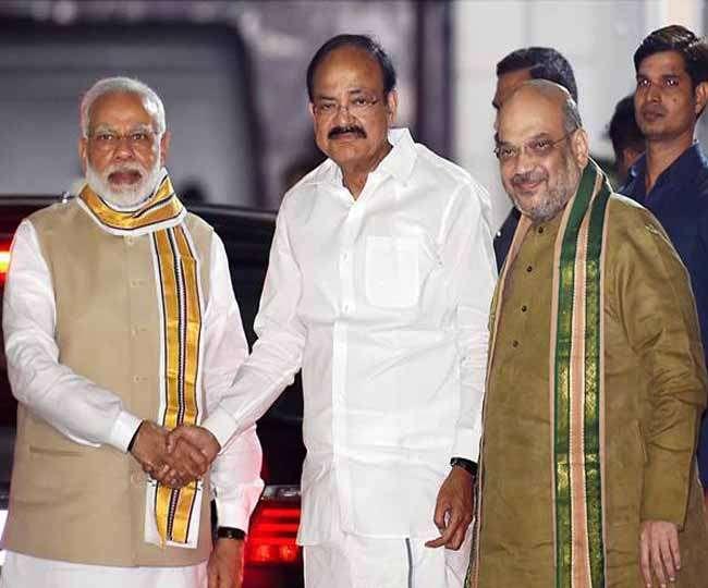 वेंकैया राजग के उपराष्ट्रपति प्रत्याशी, पहली बार राष्ट्रपति, उपराष्ट्रपति, पीएम होंगे भाजपा नेता