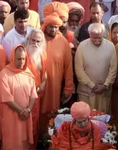 देखें तस्वीरें : महंत चांदनाथ के अंतिम दर्शन के लिए पहुंचे सीएम मनोहर लाल और योगी