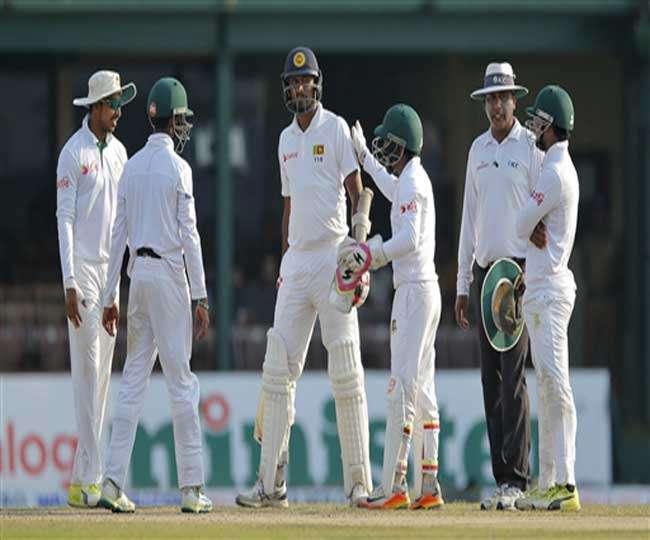 बांग्लादेश के गेंदबाजों ने श्रीलंका को बैकफुट पर धकेला