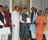UP governor: भाजपा ने पेश किया यूपी सरकार बनाने का दावा