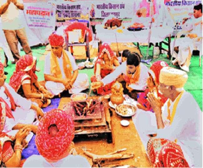 राजस्थान के किसानों ने किया सद्बुद्धि यज्ञ