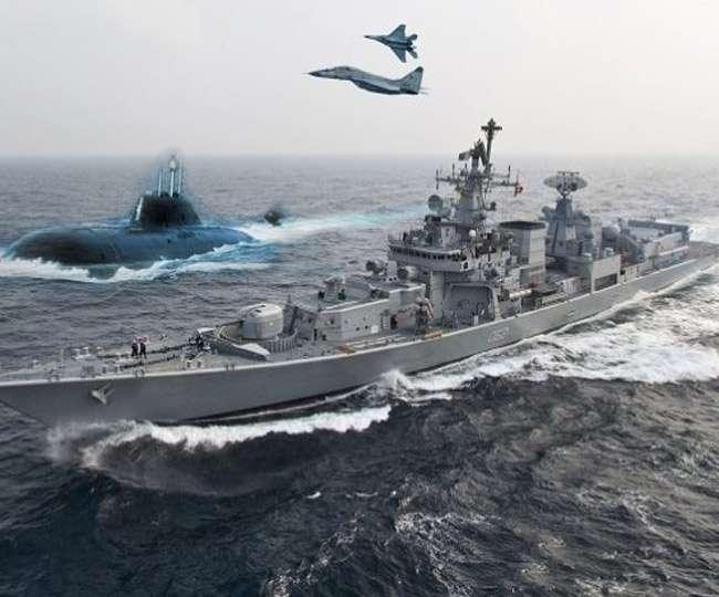 उफनते समुद्र में भारत, अमेरिका अौर जापान की नौ सैनाओं ने दिखाए पैंतरे
