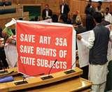 अनुच्छेद 35ए पर सियासत तेज, दी जा रही बड़े जन आंदोलन की धमकी