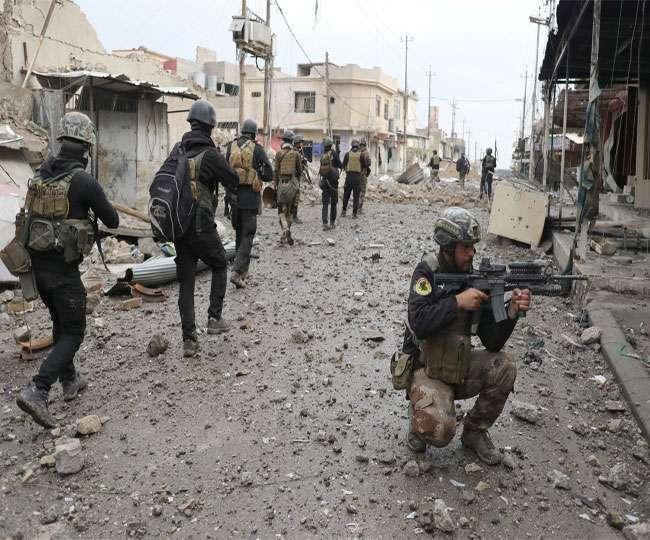 मोसुल में छिड़ी भीषण जंग, हवाई हमले में छह आईएस नेता ढेर