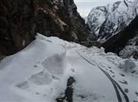 PICS: बर्फ से लकदक चमोली जिले की पहाड़ियां