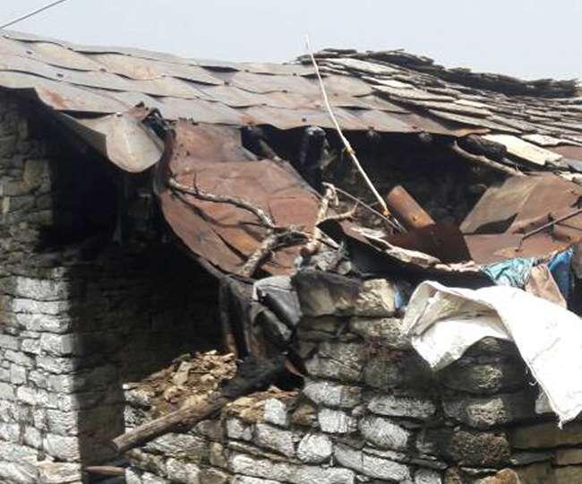 पिथौरागढ़ जिले में बारिश और ओलावृष्टि से हुआ नुकसान