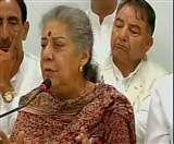 अंबिका सोनी ने हिमाचल, उत्तराखंड के प्रभारी पद से दिया इस्तीफा