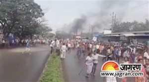 महाराष्ट्र में फिर भड़के किसान, गाड़ियों में लगाई आग