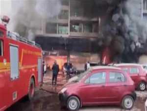 नवी मुंबई में मारुति सुजुकी शोरूम में आग