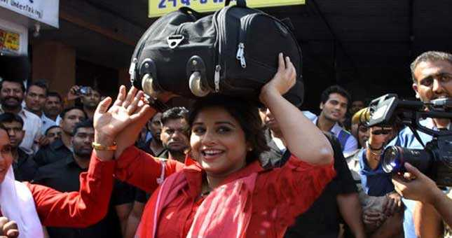 Actress Vidya Balan slips into the shoes of Rajasthans first female porter