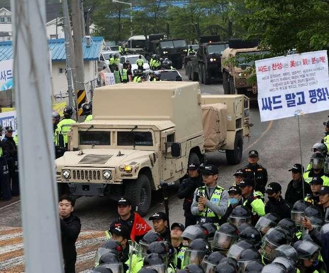 उत्तर कोरिया और यूएस में छिड़ सकती है जंग, दक्षिण कोरिया पहुंची 'THAAD'
