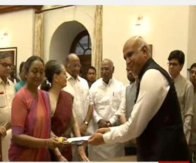 राष्ट्रपति पद के लिए रामनाथ कोविंद अौर मीरा कुमार सहित 64 नामांकन पत्र दाखिल