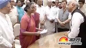 मीरा कुमार ने राष्ट्रपति पद के लिए अपना नामांकन पत्र भरा