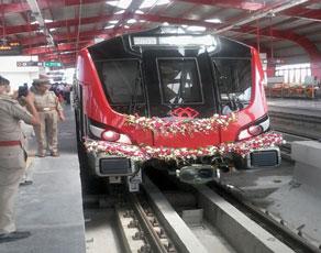 देखें तस्वीरेः लखनऊ में सबसे आधुनिक मे्ट्रो का संचालन शुरू