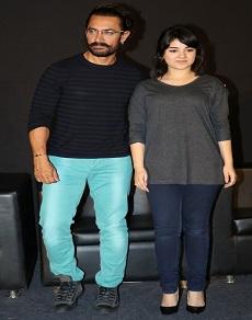 आमिर ख़ान ने अपनी 'इस' बेटी के साथ किया 'सीक्रेट सुपरस्टार' का ट्रेलर लॉन्च, देखें तस्वीरें