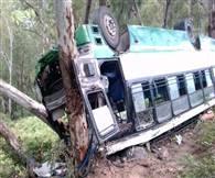 देखें तस्वीरें: भरमौर-धर्मशाला रात्रि बस दुर्घटनाग्रस्त, दो की मौत