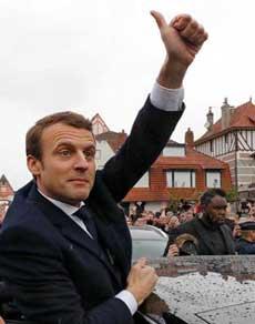 मैक्रों बने फ्रांस के सबसे युवा राष्ट्रपति, देखें तस्वीरें
