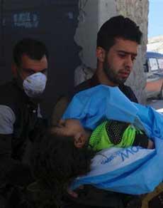 सीरिया: केमिकल अटैक ने पल भर में बदल दिया नजारा, हर तरफ मची चीख पुकार