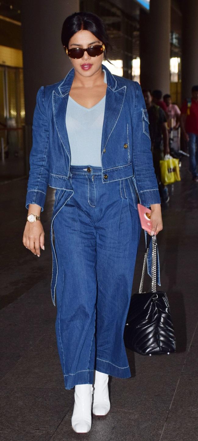 प्रियंका चोपड़ा लौटीं मुंबई, एयरपोर्ट पर दिखा टशन, देखें तस्वीरें