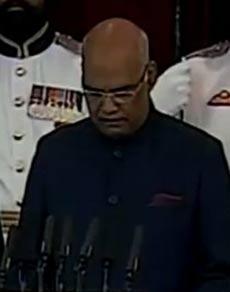तस्वीरें: रामनाथ कोविंद बने देश के 14वें राष्ट्रपति, संसद भवन में ली शपथ