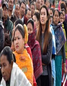photos: महिला दिवस पर मणिपुर में दिखा महिलाओं का दम