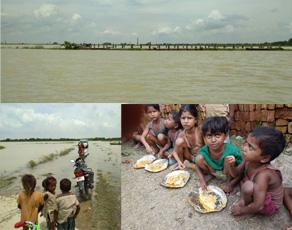 pics: बिहार में बाढ़ से अबतक 292 लोगों की मौत, कुछ यूं कट रही जिंदगी
