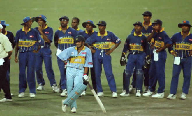 1996 world cup semi final,india vs sri lanka,india vs sri lanka world cup semi final,13 march 1996 world cup semi final,1996 world cup semi final