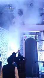 आगरा में ताज महोत्सव में मुख्य मंच पर लगी आग