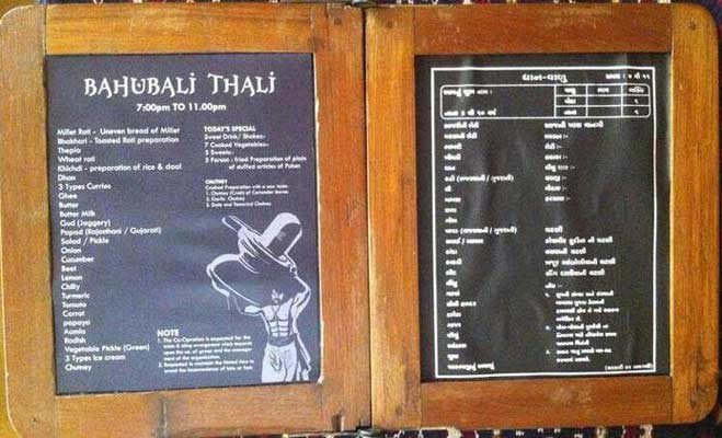 bollywood  news, bollywood  gossips, bollywood movie, baahubali movie, baahubali movie series, movie sequel, baahubali sequel, baahubali mania, baahubali thaali, gujarati restaurant, gujarati cuisines, rajwadu restaurant, ahmedabad