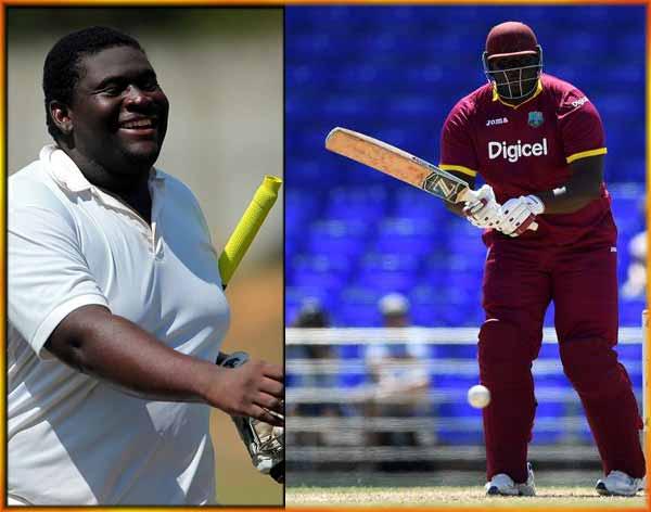 दुनिया के सबसे भारी भरकम क्रिकेटर 'रहकीम' ने अपनी तूफानी पारी में मारे लंबे लंबे छक्के, देखकर हिल जाएंगे