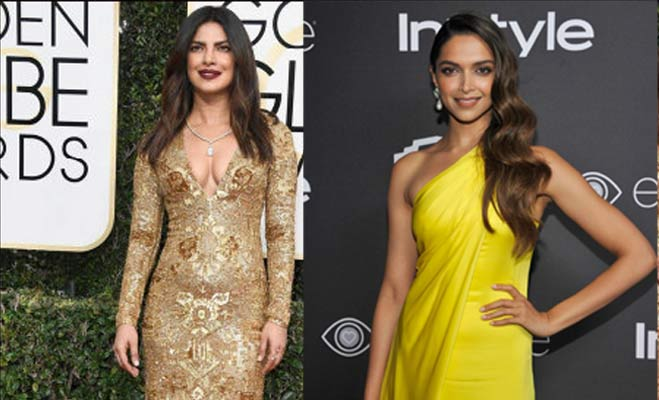 hollywood news, bollywood gossips, bollywood actresses, bollywood actresses in hollywood movies, priyanka chopra, deepika padukone, golden globes, golden globes after party, deepika padukone in golden globes, deepika padukone yellow gown, ralph lauren outfit, instyle magazine,