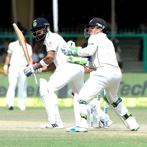 India beat New Zealand in first test match