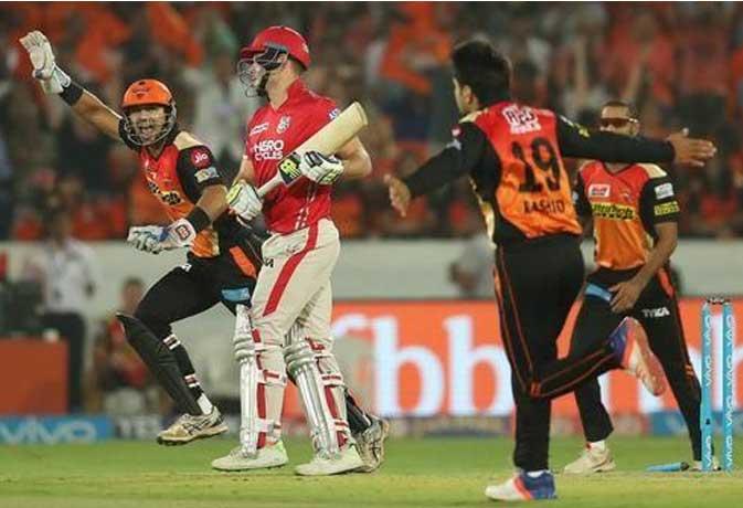 IPL 2017 : 19वें मुकाबले में हैदराबाद सनराइजर्स ने किंग्स इलेवन पंजाब को 5 रनों से दिया करारा झटका