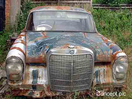 Million pounds rusty old mercedes lifestyle inext live for Mercedes benz for sale in india