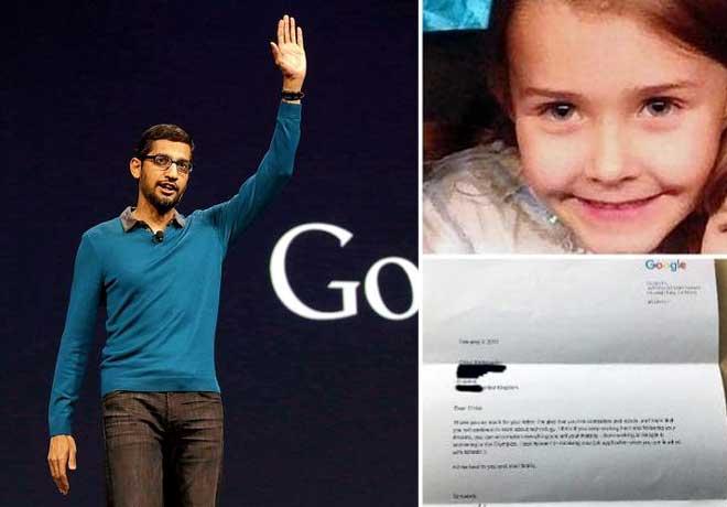 7 साल की बच्ची की जॉब एप्लीकेशन पर Google CEO सुंदर पिचई ने उसे खुद लिखा ये खत