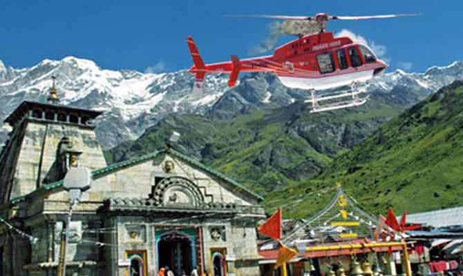 केदारनाथ में हेलीकॉप्टर सेवाओं पर लगाई गई रोक