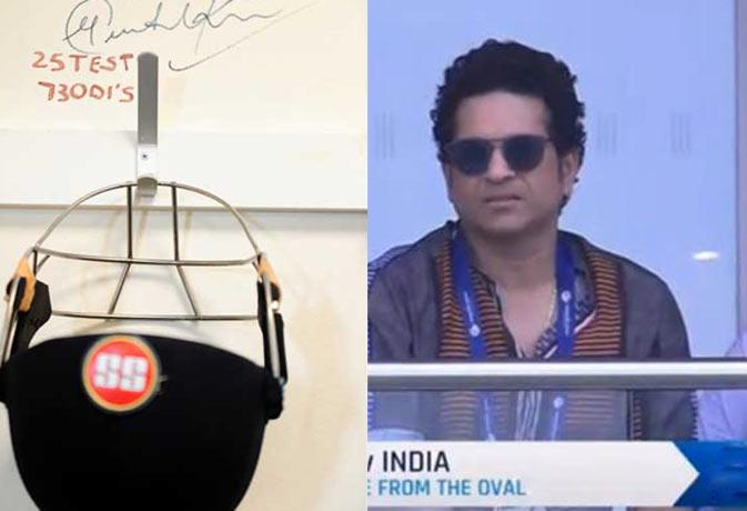 हौसला बढ़ाने के लिए टीम इंडिया के ड्रेसिंग रूम में टांगा गया सचिन तेंदुलकर का हेलमेट