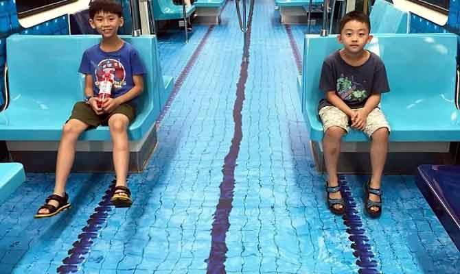 ताईवान की मेट्रो में घुसते ही आपको दिखेगा स्वीमिंग पूल और फुटबॉल स्टेडियम