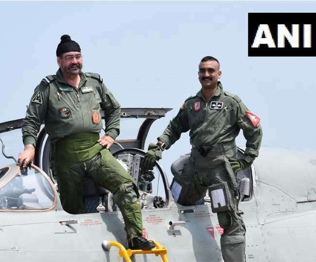 Wing Commander Abhinandan Varthaman flies MiG-21 sortie with Indian Air Force chief BS Dhanoa