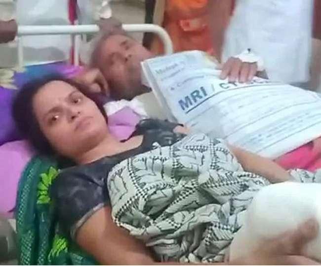 अस्पताल ने महिला और पुरुष को एक ही स्ट्रेचर शेयर करने पर किया मजबूर, Video हुआ वायरल