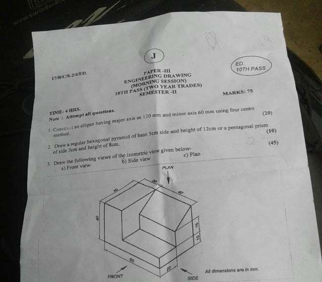 ITI second semester question paper leaked from bhagalpur