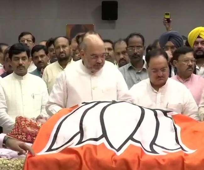 Sushma Swaraj Passes Away @67 Live Updates: भाजपा मुख्यालय लाया गया सुषमा का पार्थिव शरीर