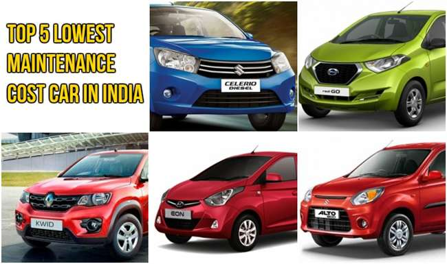 top 5 lowest maintenance cost car in india. Black Bedroom Furniture Sets. Home Design Ideas
